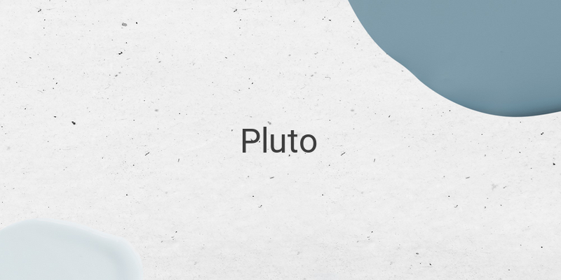 Mengapa Pluto Tidak Lagi Dianggap Sebagai Planet di Tata Surya?
